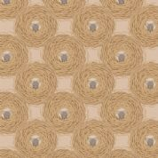 Lewis & Irene Autumn Fields - 4231 - Mouse in Nest, Gold - A115.2 - Cotton Fabric